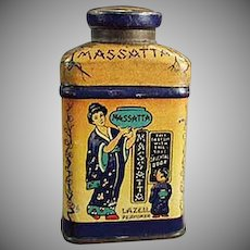 Vintage Lazell's Massatta Miniature Sample Talc Powder Tin