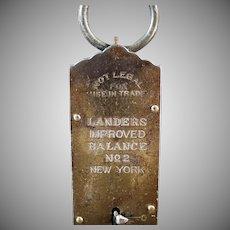 Vintage Landers Improved Balance No.2 Hanging Spring Scale - 50 Pound Measure