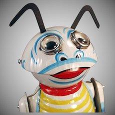 Vintage Marx Wind-up Moon Creature Robot - Tin Wind Up Toy