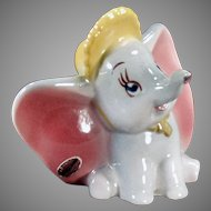Vintage Disney Elephant - Dumbo with Original American Pottery Label
