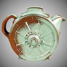 Vintage Frankoma Pottery Wagon Wheel  6 CupTeapot - Prairie Green Glaze