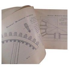 Vintage Self Help Mechanical Drawing Book by N. Hawkins ca 1902