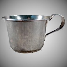Vintage Sterling Silver Baby's Cup with Detailed Floral Handle - No Monogram