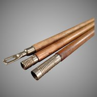 Vintage 3 Section Gun Barrel Cleaning Rod - Shotgun or Rifle Rod