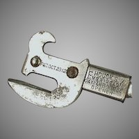 Vintage Houck's Ever-Ready Can and Bottle Opener - 1912