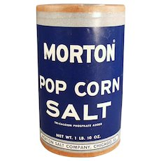 Vintage Morton Popcorn Salt 1950's Cardboard Box - Fun Pop Corn Go-With