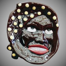 Vintage Black Memorabilia Spoon Rest Wall Plaque - Large Mammy Face