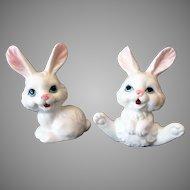 Vintage White Bunny Rabbit Figurines – Bone China Taiwan