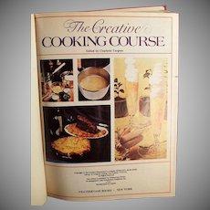Vintage Creative Cooking Course Recipe Book by Turgeon -1975 Creative Homemaker's Academy Hardback