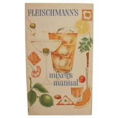 Vintage Bartender's Guide Recipe Booklet - Old Fleishmann's Mixer's Manual