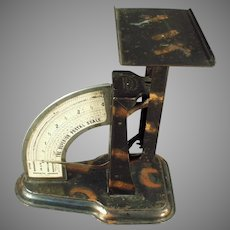 Vintage 1904 Triner Superior Postal Desk Scale - Tiger Stripe Finish - Office Accessory