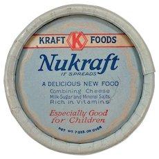 Vintage Kraft-Phenix Nukraft Cheese Box – 1930's Advertising Memorabilia