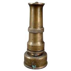 Vintage Brass Challenger Garden Hose Nozzle - Italy