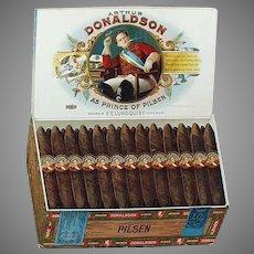 Vintage Arthur Donaldson Pilsen Cigars Cardboard Easel Advertising Sign