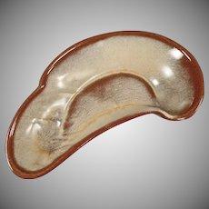 Vintage Frankoma Pottery Lazybones Bone Dish - Desert Gold Glaze