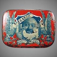 Vintage Reichard & Scheuber Yankee Razor Tin - Graphic Antique Safety Razor Tin