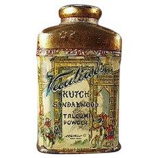 Vintage Talc Tin Sample - Vantine's Kutch Sandalwood Talcum Miniature Tin