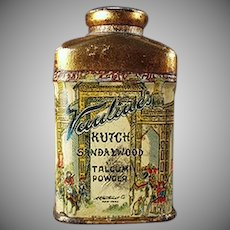Vintage Talc Tin Sample - Vantine's Kutch Sandalwood Talcum Miniature Tin