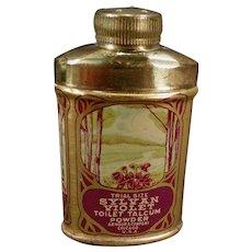 Vintage Sylvan Violet Toilet Talcum Trial Size Tin - Talc Sample