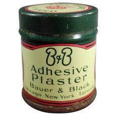 Vintage Medical Advertising Tin - B and B Adhesive Plaster