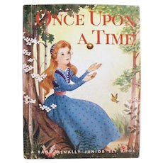 Vintage Fairy Tale Book - Once Upon a Time - 1955 Frog Prince Story