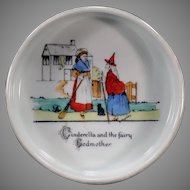 Vintage Baby Plate Feeding Dish with Cinderella - Made in Czechoslovakia