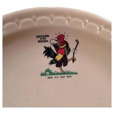 Vintage Chicken in the Rough Restaurant China ca 1969 Advertising Dinner Plate