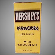 Vintage Hershey's Milk Chocolate Krackel Candy Bar Box