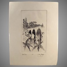 Artist Signed, Numbered Print of San Diego's Balboa Park Bell Tower & Cabrillo Bridge