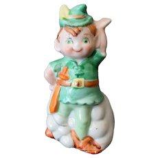 Vintage Leprechaun or Robin Hood Porcelain Bell  – J.S.N.Y Ceramics