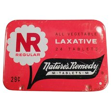Vintage Nature's Remedy - NR Regular Laxative - Old Medical Advertising Tin