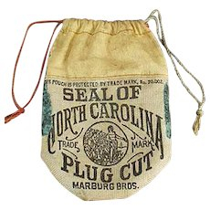 Vintage Seal of North Carolina Tobacco Advertising Pouch