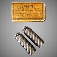 Vintage Dexter #2 Replacement Pencil Sharpener Cutter Blades