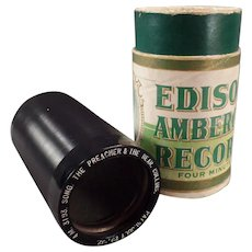 Vintage Edison Amberol Cylinder Phonograph Record – Preacher and the Bear - Collins