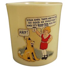 "Vintage Orphan Annie and Sandy ""ARF"" Beetleware Ovaltine Mug"