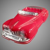 Vintage Red Auburn Rubber Lincoln Convertible Car - Very Nice Condition