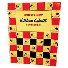 Vintage 1940's Sunset's New Kitchen Cabinet Cook Book – Spiral Bound Recipe Book