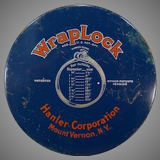 Vintage WrapLock Clamp Tin with Steel Band Strapping, Buckles and Ratchet Wrench