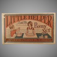Vintage 1930's Little Helper Pastry Set - Toy Box Only with Kitchen Graphics