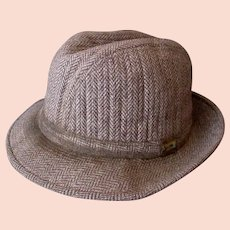 Gentlemen's Vintage London Fog Tweed Fedora Hat