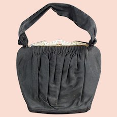 Vintage Evening Bag Clutch Purse with Rhinestone Clasp - Guild Creations