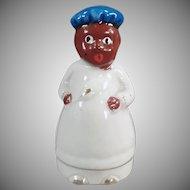 Vintage Black Memorabilia Bell - Small Black Chef Porcelain Bell