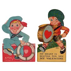Vintage Mechanical Valentines - Two with Cute Boys
