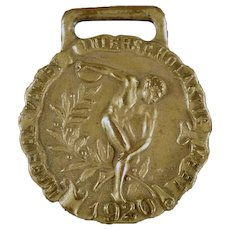 Vintage 1920 Sports Medal - Track and Field Medal - Javelin Throw Imperial Valley