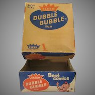 Vintage Bubble Gum Box – Old 1c Fleer Dubble Bubble Box