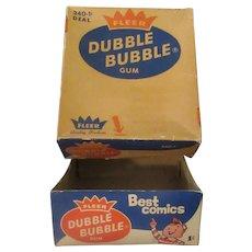 Vintage Bubble Gum Box – Old 1c Fleer Dubble Bubble Box