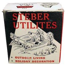 Vintage Steber Utilite Indoor/Outdoor Light Fixture with Original Box - 1950's