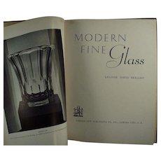 Vintage Reference Book- Modern Fine Glass by Leloise Davis Skelley
