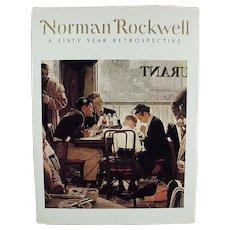 Vintage 1972 Hardbound Book - Norman Rockwell Retrospective
