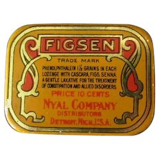 Small Vintage Figsen Laxative Tin – Old Medical Advertising